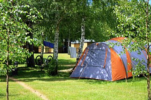 Camp site in summer